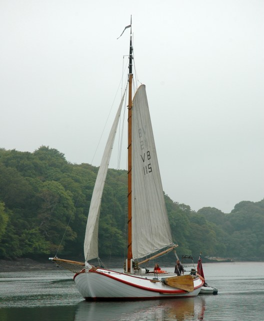 Sailing barge Drifter in the River Fal